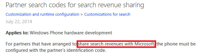 Microsoft document reveals Bing search revenue sharing - Some manufacturers get a slice of Microsoft's revenue from Bing