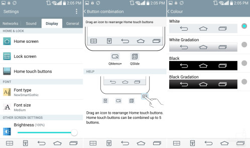Change navigation buttons layout and color