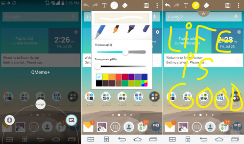 Take, annotate, and share screenshots with LG QMemo+