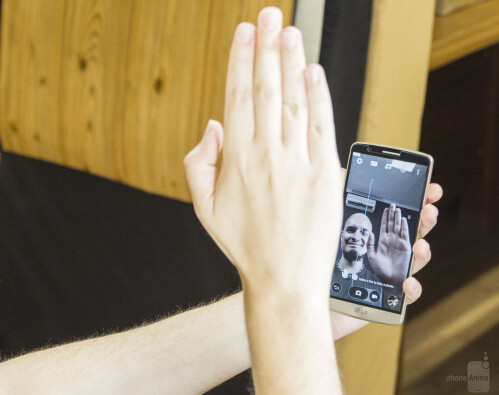 Take a selfie with a gesture