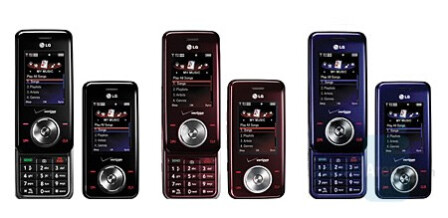 LG Chocolate VX8550 in three colors - Verizon launches Chocolate VX8550 and budget Motorola