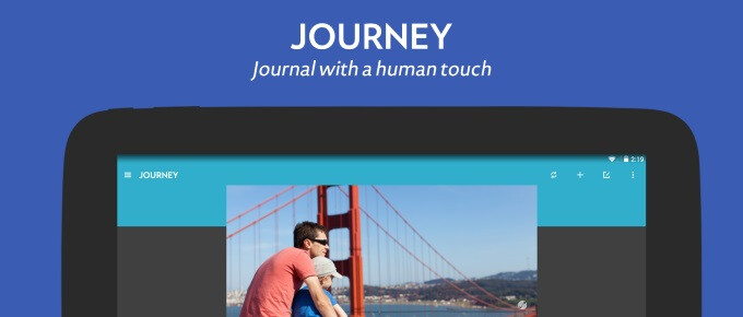 Journey is a journal keeping app with Material Design and human touch