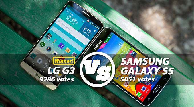 Reader's choice: LG G3 outscores Samsung Galaxy S5