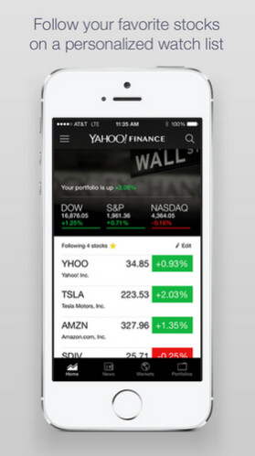 The Yahoo Finance app is updated for iOS and Android - Yahoo Finance app redesigned for stock market traders