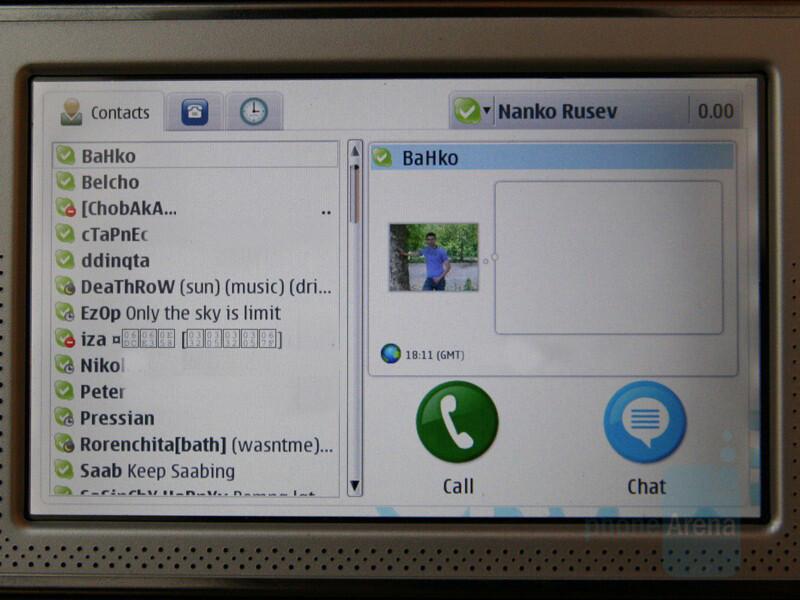 Skype on the Nokia N800 - Nokia N800 Internet Tablet gets Skype