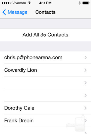 Open the attached file, import your contacts