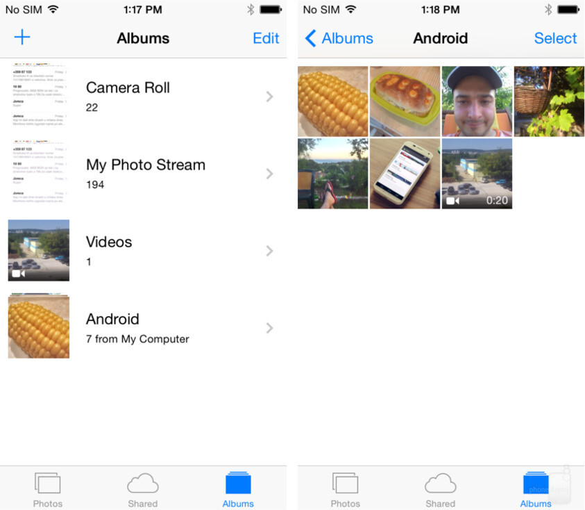 Your photos are now in your iPhone's albums