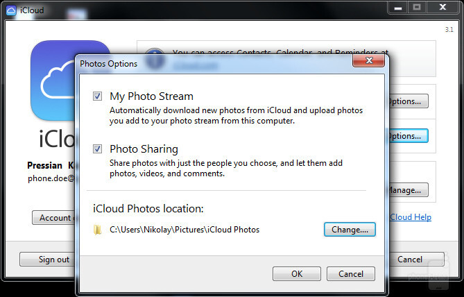 Syncing photos with iCloud on Windows