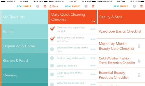 Real Simple Checklist