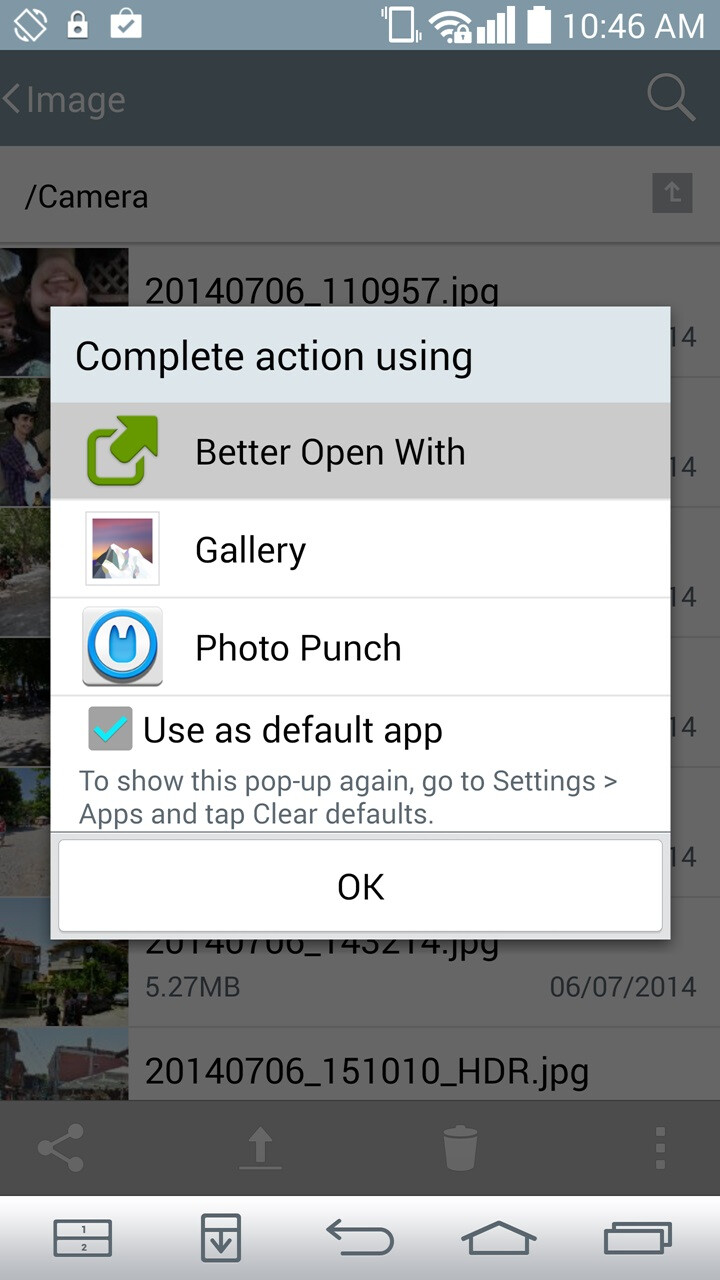 How to get default app choosing flexibility in Android