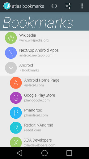 Atlas Android browser