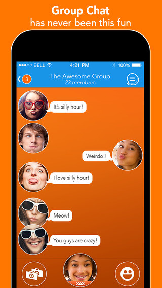 Face-to-face chatter React Messenger updated with group chats