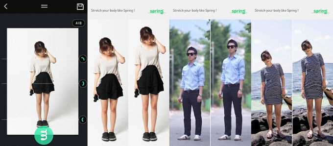 Short legs? No problem. Increase your height in photos with the Spring app