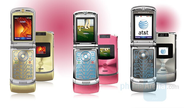 AT&T's RAZR V3xx in Gold, Pink and Platinum versions - Motorola V3xx in Pink for the Ladies