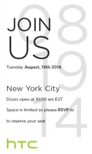 HTC to hold event on August 19th