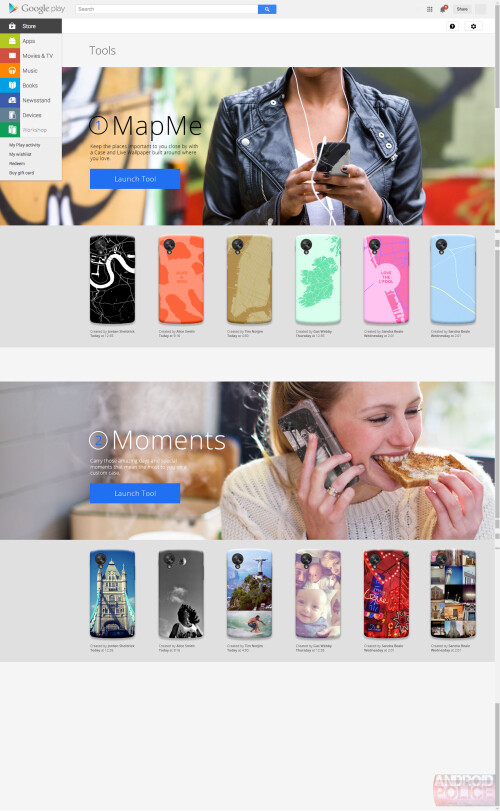 Google may soon launch a Workshop to make a custom Nexus cases and live wallpapers