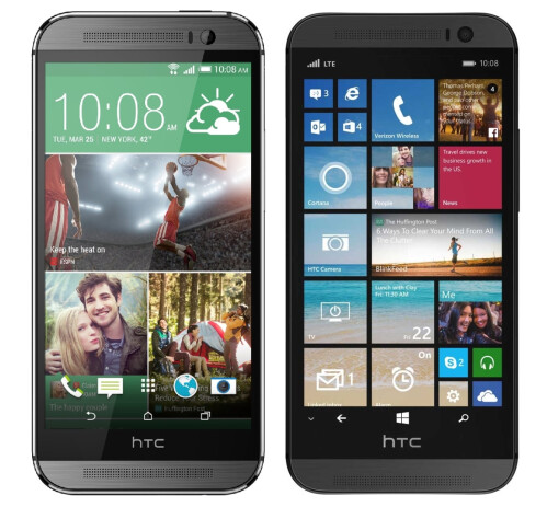 The Android-based One (M8) vs. the Windows variant