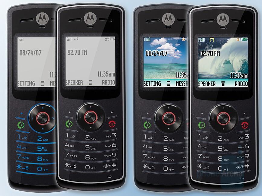 Motorola W156, W160, W175 and W180 - Six new budget Motorola phones