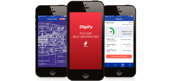 Digify lets you share files privately and self-destructably