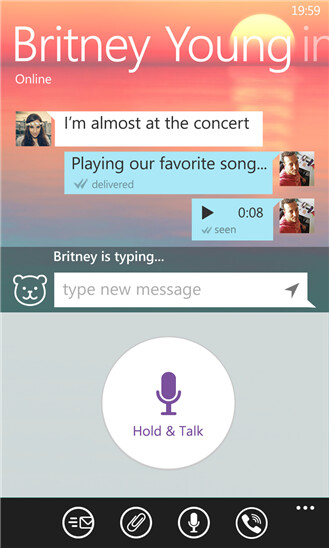 Viber for Windows Phone is gradually closing the feature gap