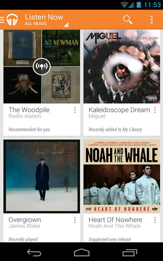 Google Play Music receives an update - Google Play Music gives you new widgets following an update in the Google Play Store