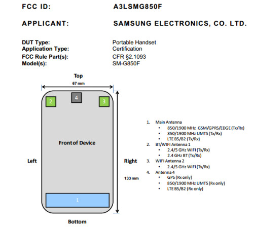 Samsung Galaxy Alpha visits the FCC