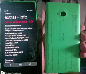 Prototype of the Nokia Lumia 730