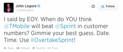 When will T-Mobile pass Sprint? John Legere wants your best guess