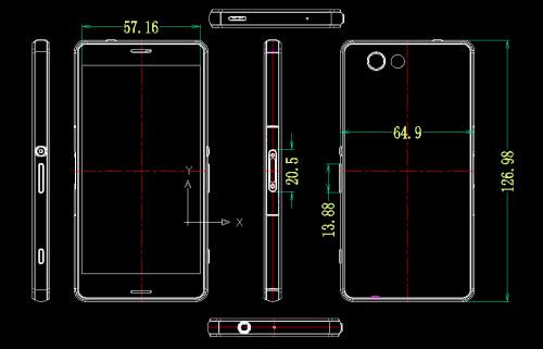 Xperia Z3 Compact dimensions