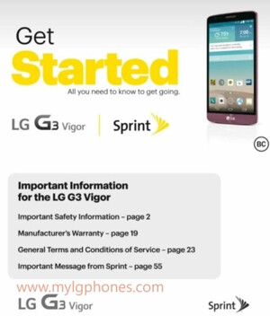 LG G3 Vigor (a G3 s variant) headed to Sprint
