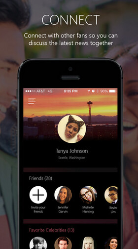 SNIPP3T allows you to track your facvorite celebrities - Microsoft's new app for iOS helps you with your celebrity worship