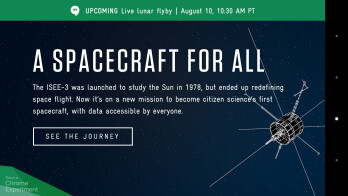 The latest Chrome experiment: track an abandoned NASA satellite, lunar flyby on August 10th