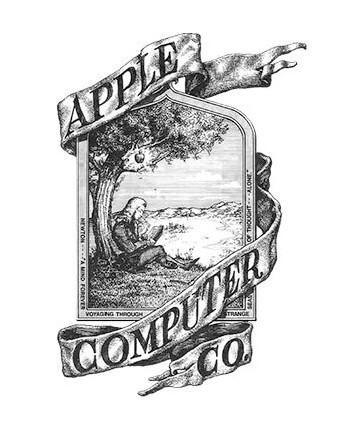 Apple's original logo looked nothing like today