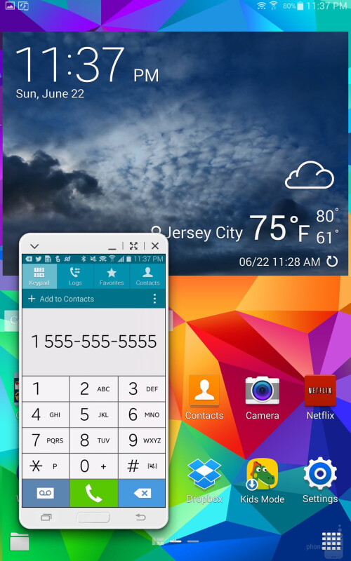 SideSync 3.0 on the Samsung Galaxy Tab S