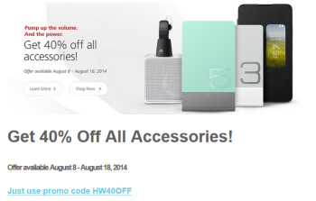 From now through August 18th, all accessories for the Huawei Ascend Mate 2 4G are 40% off with the checkout code