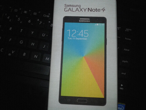 A leak of the retail box for the Samsung Galaxy Note 4