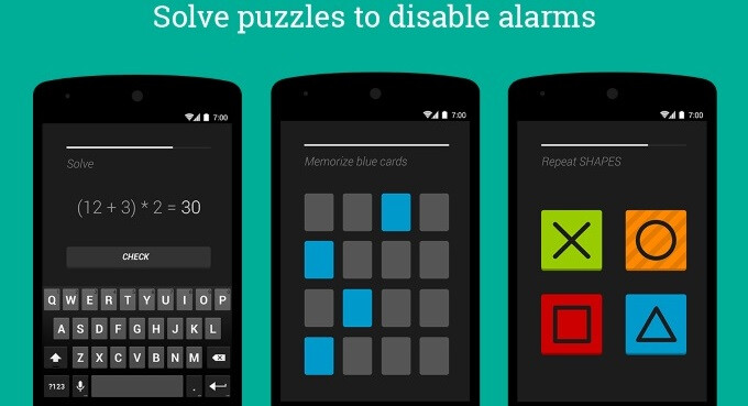 Puzzle Alarm Clock is a hardcore alarm app with gentle colors