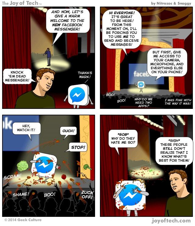 Humor: Facebook Messenger formally introduces itself to everyone