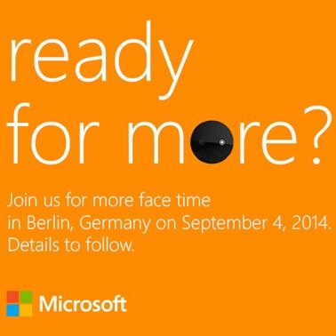 Microsoft event invitation
