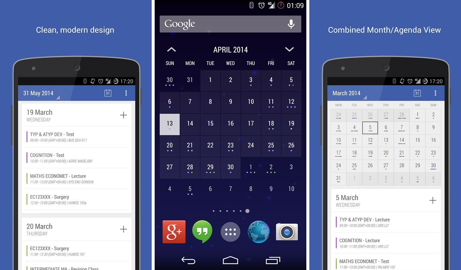 Calendar Design In Android : The best of material design apps for android so far