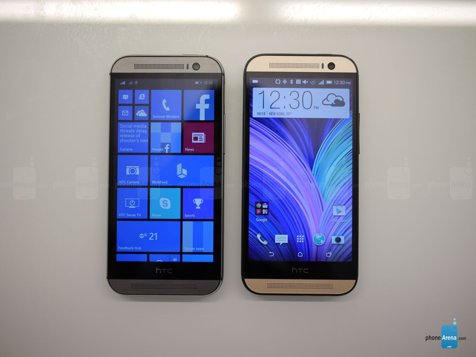 htc one m8 for windows vs htc one m8 for android  first