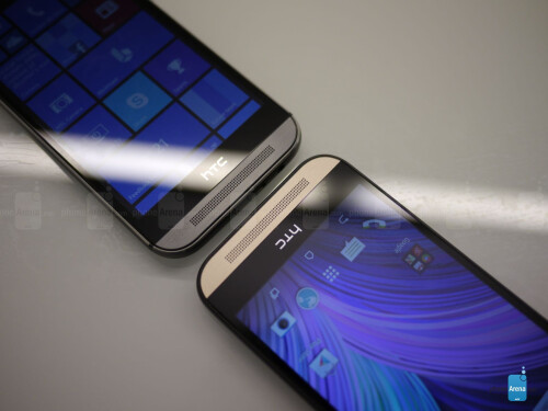 HTC One M8 for Windows Phone vs HTC One M8 for Android first look