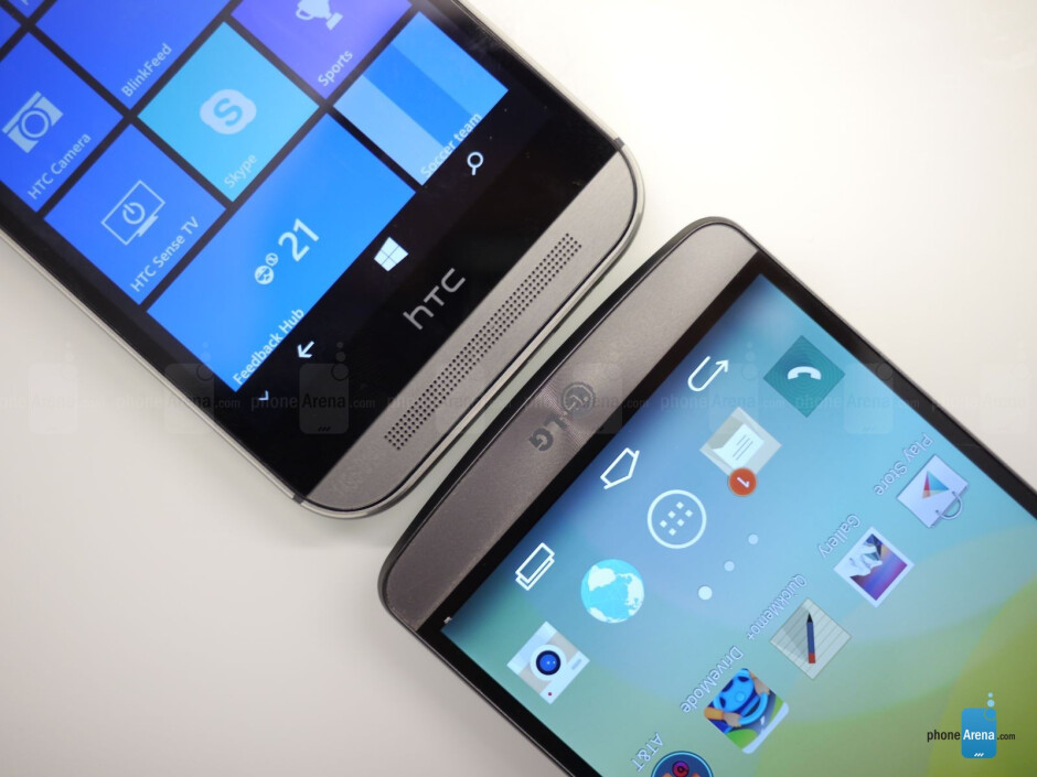 HTC One M8 for Windows vs LG G3: first look
