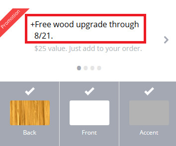Get a free wood back from Motorola when you order the Moto X from now until August 21st - Free wood back for Motorola Moto X buyers using the Moto Maker site, until August 21
