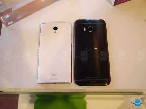 Sharp AQUOS Crystal versus HTC One M8 first look