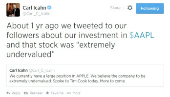 Apple's stock hits a split-adjusted record high
