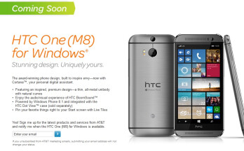 AT&T will offer the HTC One (M8) for Windows too - eventually