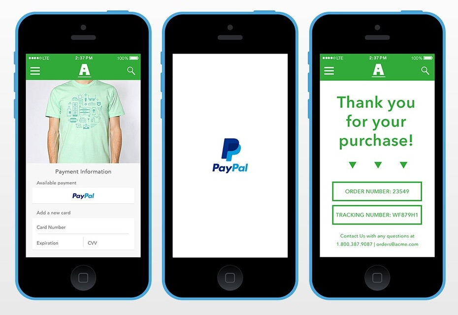 """PayPal announces """"One-Touch Mobile Payments"""""""