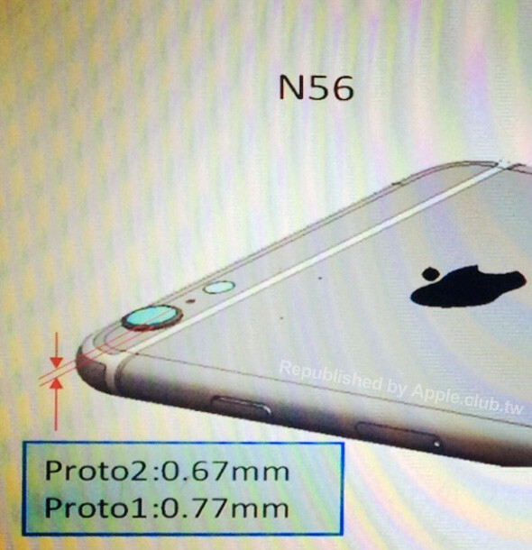 An ultrathin iPhone 6 with a protruding camera leaks in alleged CAD drawing