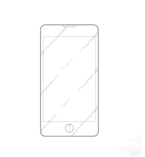 iPhone-like Samsung phone design patent